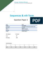 27.2 Sequences Nth Term -Cie Igcse Maths 0580-Ext Theory-qp
