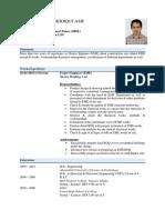 CV of Asif Siddiqui