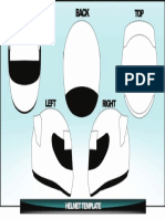 Helmet Template Outline