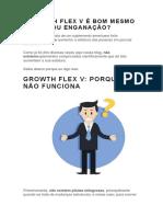 Growth Flex v é Bom Mesmo Ou Enganação