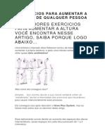 Exercicios Para Aumentar a Altura de Qualquer Pessoa