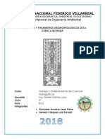 Parametros Geomorfolicos de La Cuenca Mchique