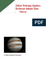 25 Fakta Jupiter