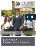 BBA Course Catalogue