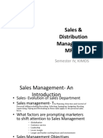 Sales & Distribution Management-MR 412