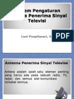 System Pengaturan Antenna Penerima Sinyal Televisi