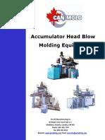 Accumulator Head Molding Machine -Pet All Manufacturing Inc
