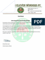 Techiman Eleven Wonders dismisses Enos Adepah sacking reports