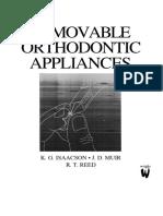Removable Orthodontic Appliances - K. Isaacson, Et. Al., (Wright, 2002) WW