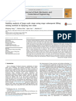 Stability Analysis of Large Scale Stope Using s 2015 Journal of Rock Mechanic