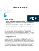 Mental Health of Older Adults