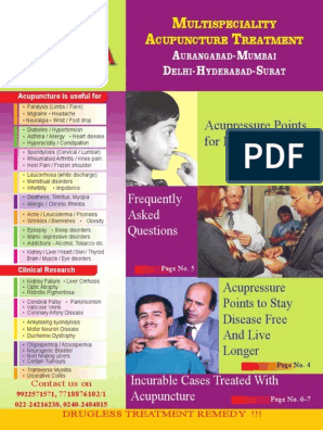 Dr Lohiya 8 Page Book English | Acupuncture | Arthritis