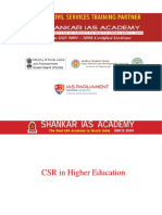 CSR in Higher Education Current Affairs 16-07-2018