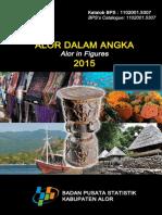 Kabupaten Alor Dalam Angka 2015 Plus Cover