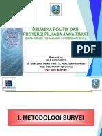 Dinamika Politik Dan Proyeksi Pilkada Jatim (Survei Prov. Jawa Timur Feb - 2018) - Presconf Final