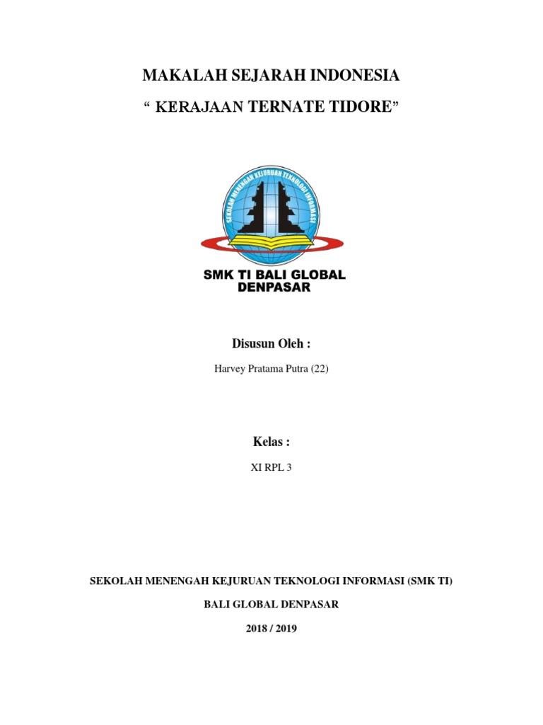 Makalah Kerajaan Ternate Tidore