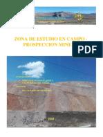 INFORME DE LA Zona de Estudio en Campo - PROSPECCION MINERA