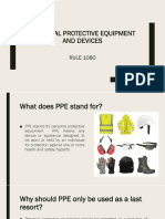 OSHS of the Philippines Rule 1080 PPE AND DEVICES