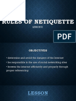 Rules of Netiquette
