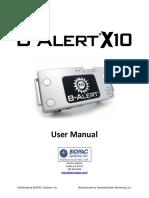 b Alert x10 User Manual