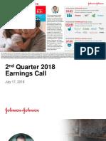 JNJ Earnings Presentation 2Q2018