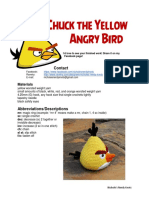 Chuck the Angry Bird Pattern