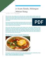 Resep Sayur Asam Khas Sunda