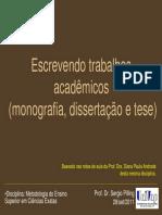 Monografias, Dissertaces e Teses