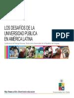 Los Desafios de La Universidad Publica en America Latina Conferencia Del Rector Arocena