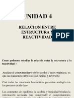 relacion entre estrusctura y reactividad. Carbocationes y Carbaniones