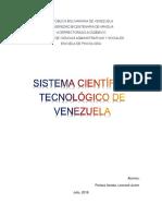 El Sistema Científico Tecnológico de Venezuela