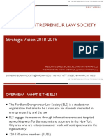 Entrepreneur Law Society - Strategic Vision 2018-19 (Public)
