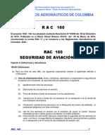 RAC 160 - Seguridad de La Aviación Civil