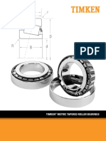 Timken Metric Tapered Roller Bearing Catalog 10912
