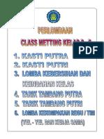 Class Metting 2016