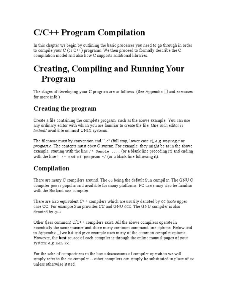C Compilation Process | C (Programming Language) | Library (Computing)