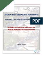 Agenda 2030 y Emergencia Humanitaria. Venezuela Un País en Franca Involución