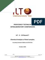 Test Program ILT-E-22 Round 7