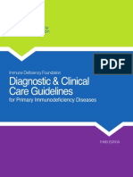 Diagnostic and Clinical Care Guidelines for Primary Immunodeficiency Diseases (2015)