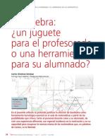 Geogebra Juguete Para El Profesorado o Herramienta Para Su Alumnado (Artíc)