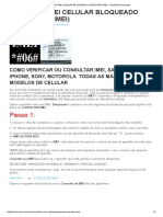 Verificar Imei Celular Bloqueado (Consultar Imei) - Hard Reset Celulares