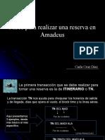 Pasos Para Realizar Una Reserva en Amadeus