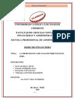 Tarea Derecho Financiero