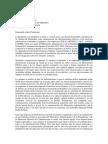 Carta de La Presidencia a La Cámara de Diputados