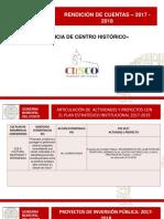 Formato -Rendición de Cuentas. Proyecto MGTUCHC