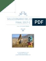 Solucionario Topo Final 2017-.1