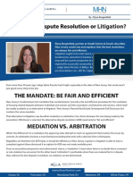 Alternative Dispute Resolution or Litigation?