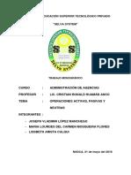 Presentación Carátula - Operaciones Activas, Pasivas y Neutras