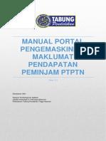 Manual Portal Pengemaskinian Pendapatan Peminjam Ptptn