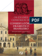 Processos Censórios Conservatorio Dramatico Brasileiro